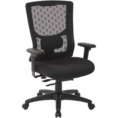Best Progrid Black Checkered Mesh High Back Chair Grey Mesh 400 x 300