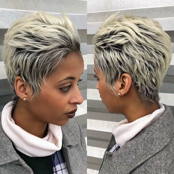 Short Blonde Pixie Hairstyle New Best Short Haircuts For Black Women In 2019 Short Blonde Pixie Blonde Pixie Hair Blonde Pixie