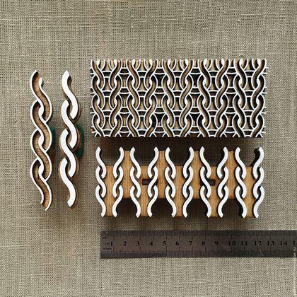 Купить Штампы для печати на ткани ВЯЗАНИЕ 2 - бежевый, натуральный, деревянный штамп, печать на ткани