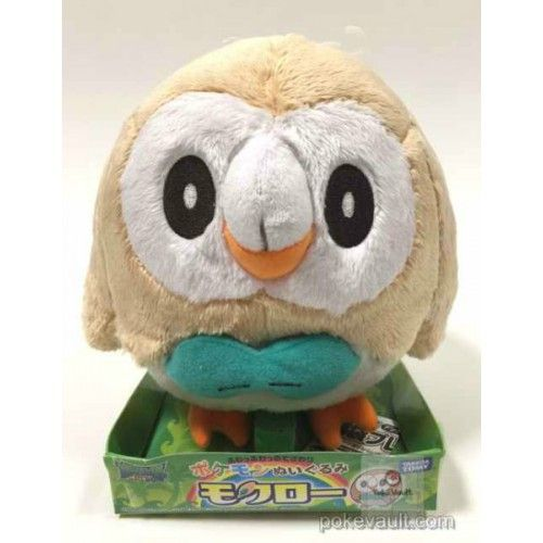 Pokemon 2016 Rowlet Takara Tomy Medium Size Plush Toy