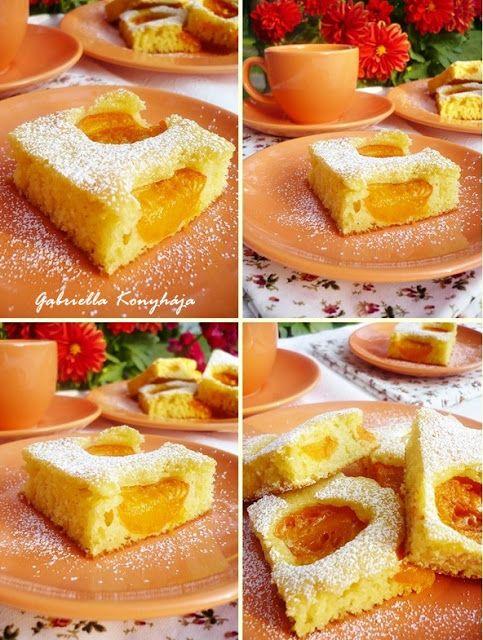Gabriella kalandjai a konyhában :): Barackos sütemény grízes tésztával
