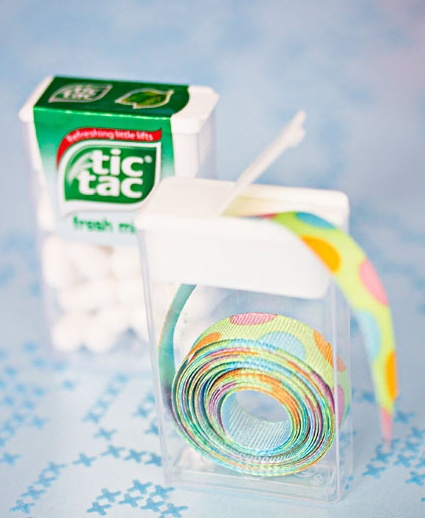 TicTac containers for a smart ribbon storage
