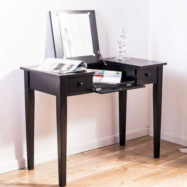 DITTE dressing table with Mirror (Black)   Bedroom Furniture   JYSK Canada