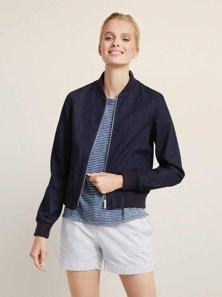 Pin for Later: 11 Stylish Pieces From Ellen DeGeneres's New Line That'll Make You Smile ED Denim Bomber Jacket ED Denim Bomber Jacket ($195)