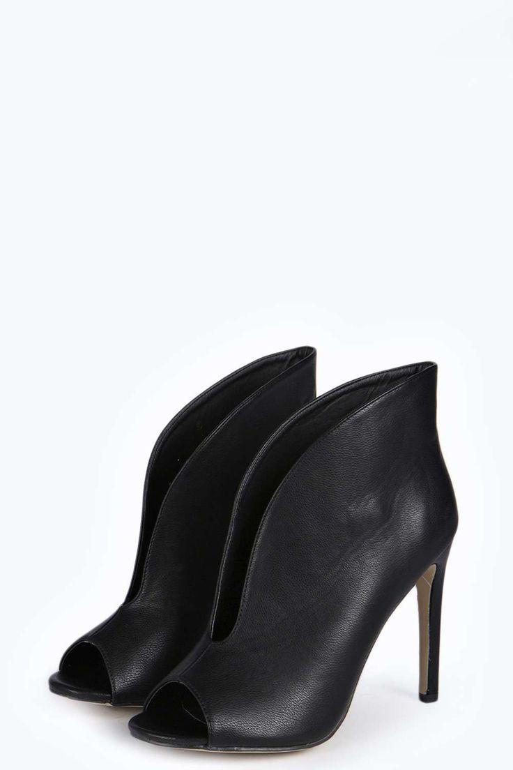 Sofia V Front Black Shoe Ankle Boot