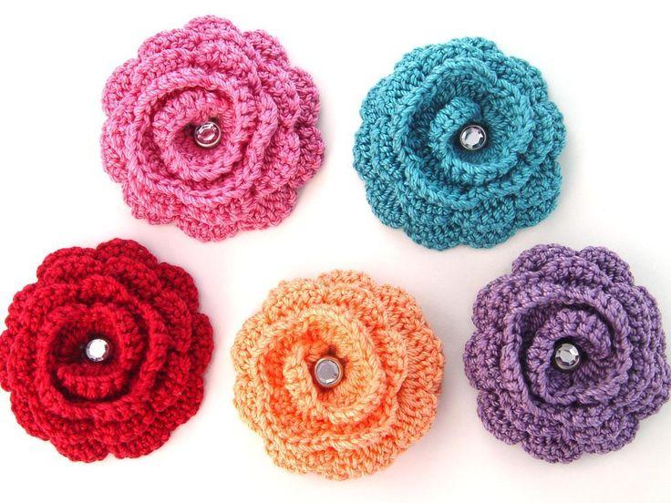 crocheting with embroidery floss   Twirl Crochet Flower by RoseAlida   Crocheting Pattern