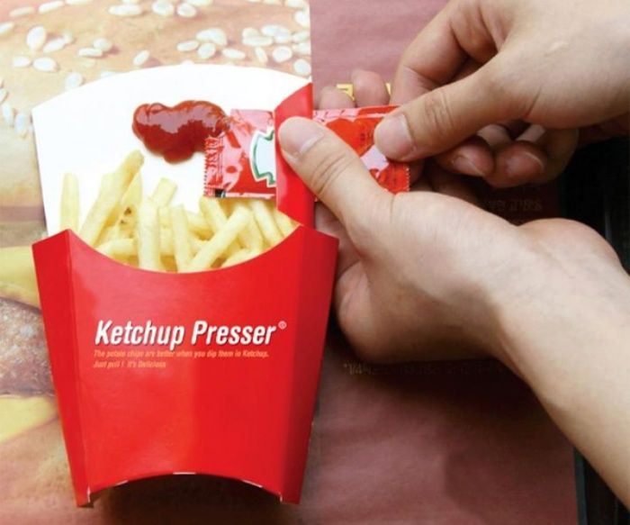 The Ketchup Presser Helps You Get the Most Out of Each Ketchup Packet