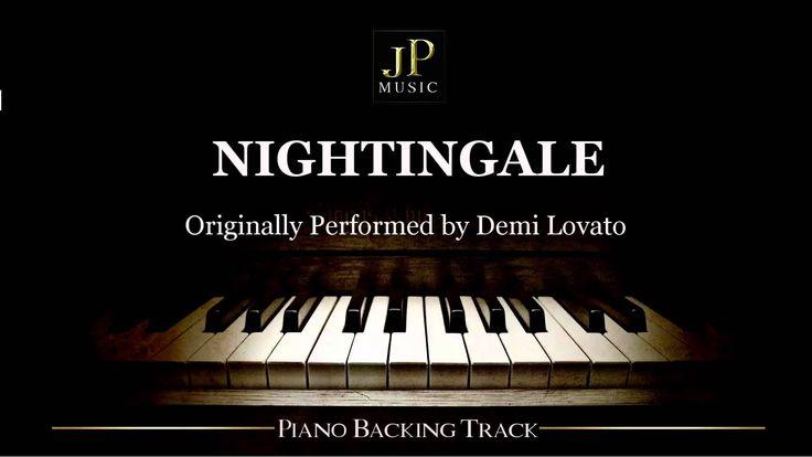 Nightingale by Demi Lovato (Piano Accompaniment)