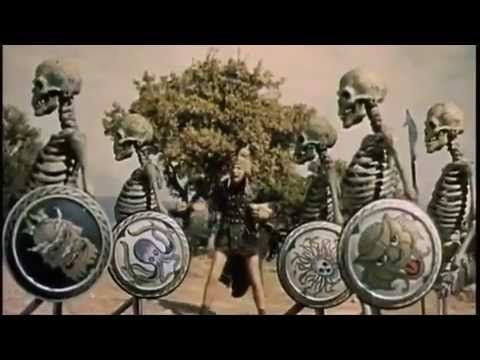 Jason and the Argonauts skeleton fight. (The moments where they come to life one by one out of the earth then scream in unison as they charge Jason  his two fellow warriors still gives a frightening thrill.