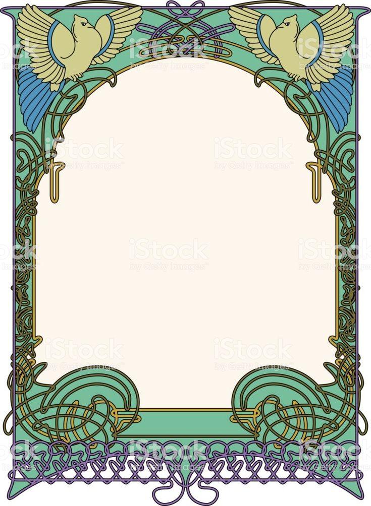 art nouveau frame royalty free art nouveau frame stock vector art more images of art nouveau. Black Bedroom Furniture Sets. Home Design Ideas