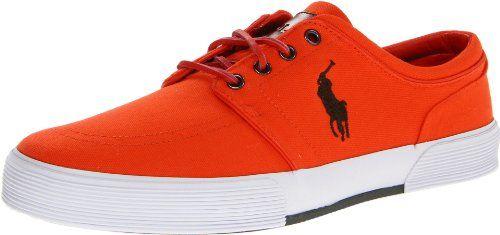 Polo Ralph Lauren Men\u0027s Faxon Low Fashion Sneaker,Deep Orange/Deep Loden,7.5