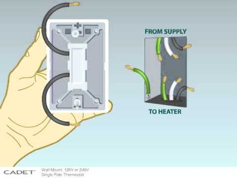 best ideas about baseboard heater thermostat this video will show you how to wire a single pole 240 volt or 120 volt thermostat to your cadet electric baseboard heater
