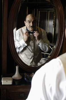 Hercule Poirot -  If you know me you know I love Sherlock Holmes but THIS GUY is my favorite detective of all time. XD