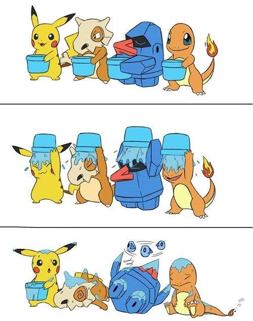 """Pokémon ALS Ice Bucket Challenge""^_^"