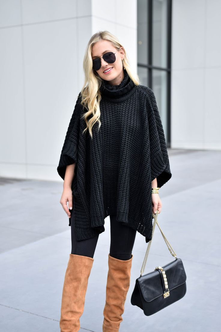 Poncho Sweater under $70 | Fall outfit inspiration