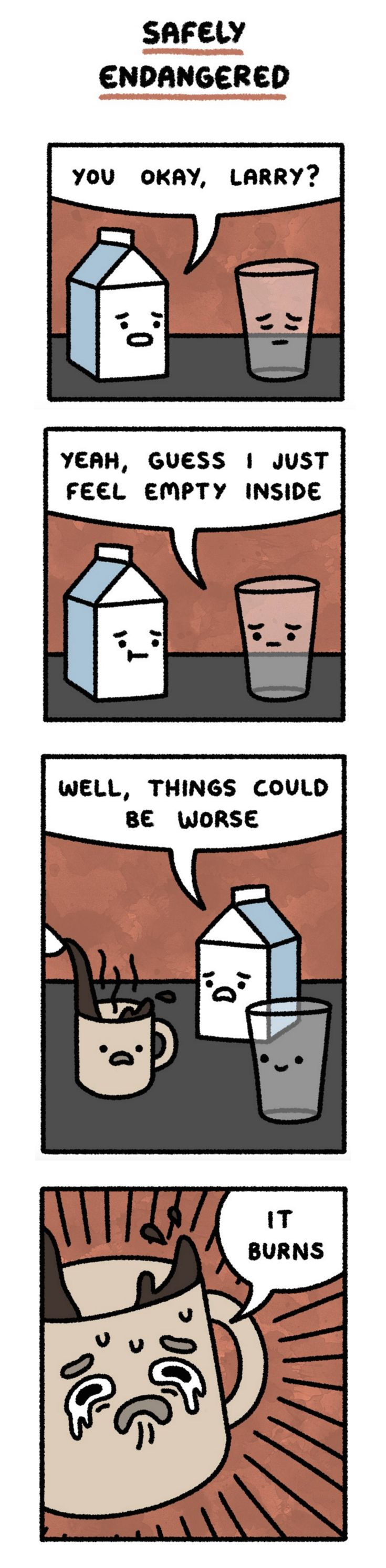 """It could be worse... """"Safely Endangered"""" by Chris McCoy on Line Webtoons…"""