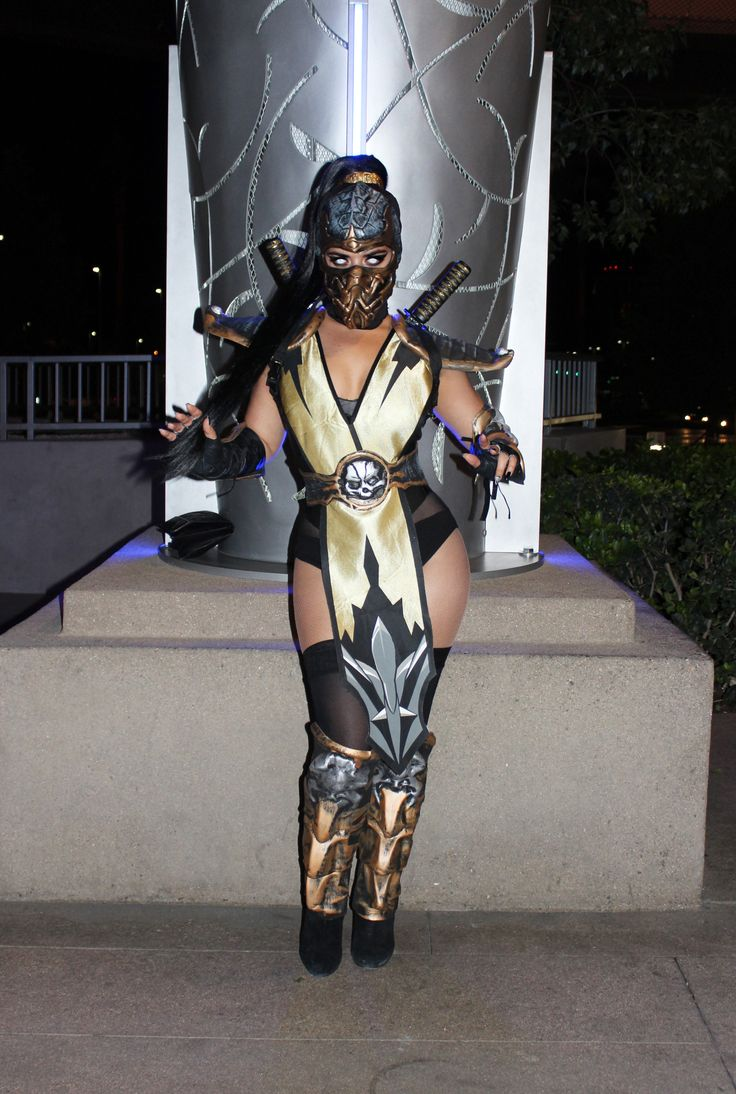 mortal kombat scorpion female costume - Google Search