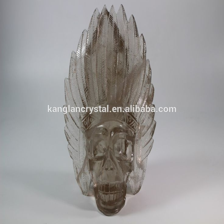 Natural crystal Indiana man modeling smoky quartz crystal skull for sale