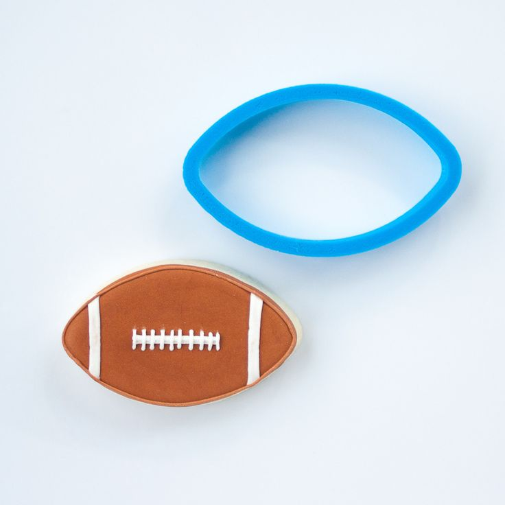 Football Cookie Cutter -  Frosted.co
