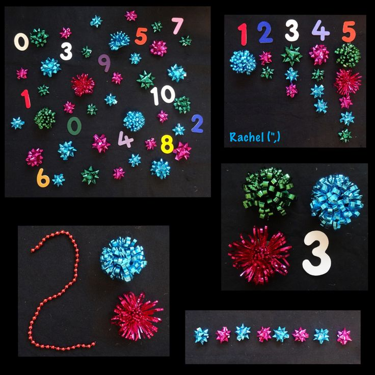 "Counting 'fireworks' (gift bows) from Rachel ("",)"