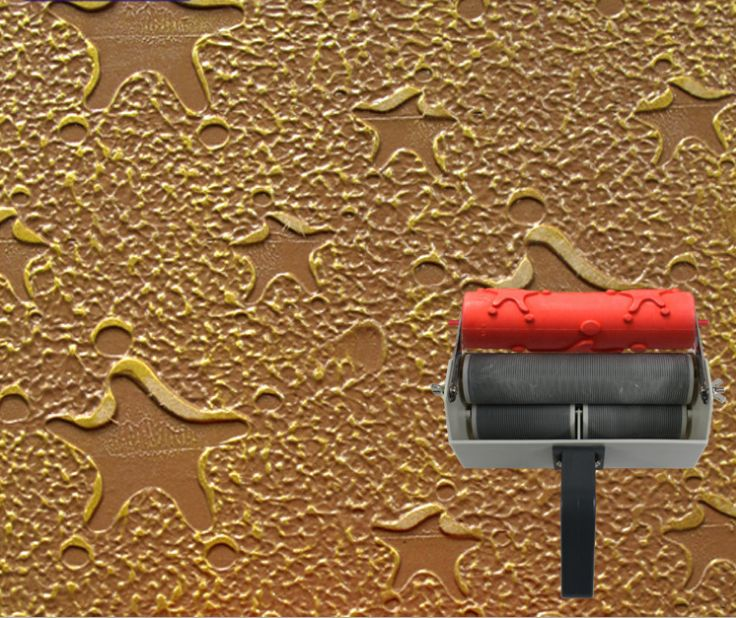 Wall paint Tools embossed roller for wall decoration 7 inch rubber roller no.138
