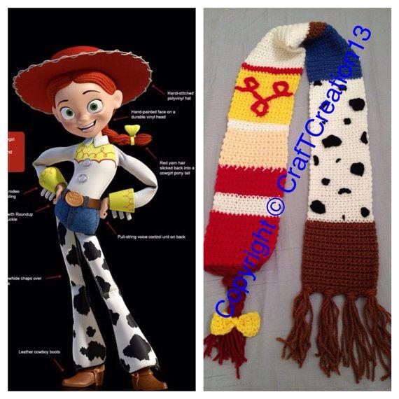 Jessie de Toy Story inspirado bufanda por CrafTCreation13 en Etsy