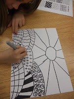 Panther's Palette: 1st Grade  patterned landscapes