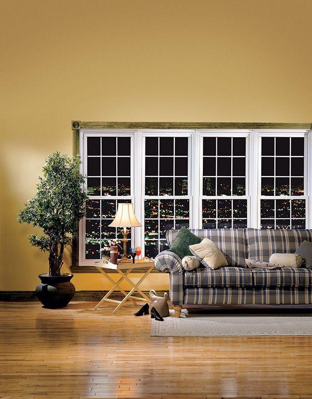 Assemblage de 4 fenêtres de PVC à guillotine :