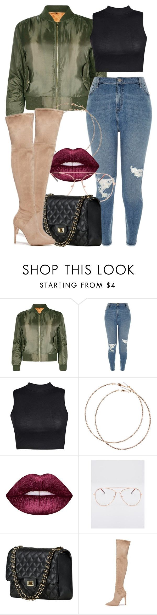 """""""2 6 17 Plus Size"""" by miizz-starburst on Polyvore featuring Boohoo, River Island, Wet Seal, Lime Crime and Kendall + Kylie"""