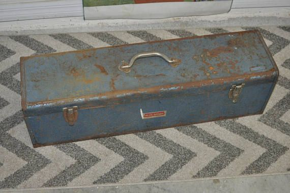 Old Belknap Blue Grass Carpenter Tool Box