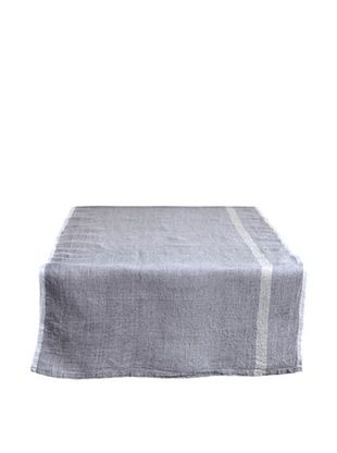 40% OFF Couleur Nature Laundered Linen Runner, Grey/Natural