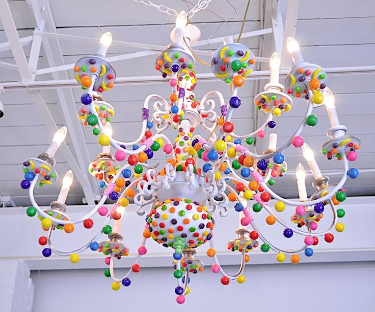 candy chandelier - Great idea for the little princess in your life