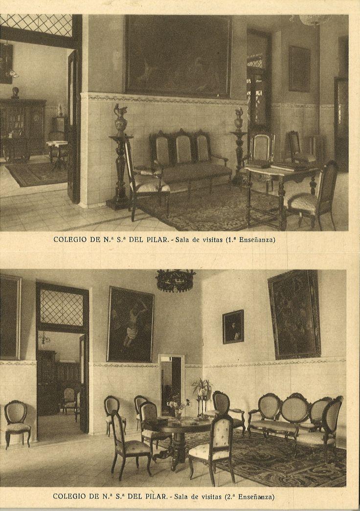 Postal Sala de visitas del Colegio Nuestra Señora del Pilar, Madrid