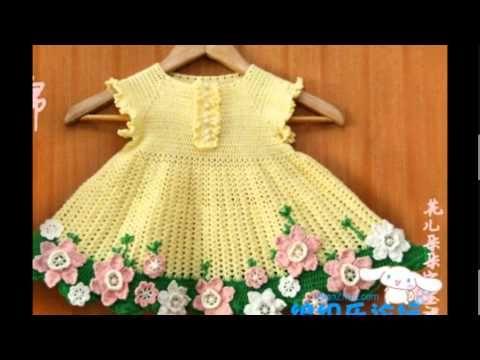 Crochet dress  How to crochet an easy shell stitch baby / girl's dress for beginners 53 - YouTube
