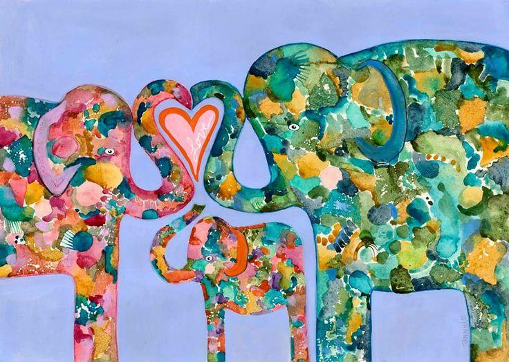 elefantes estampados