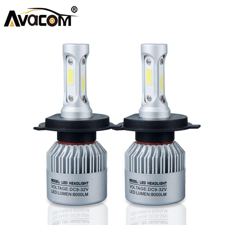 H4 H7 S2 LED Car Headlight Bulb COB H11 H1 H13 H3 9004 9005 9006 9007 9012 Hi-Lo Beam 72W 8000LM 6500K IP65 Auto Headlamp kit   Price: 15.43 USD
