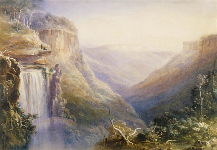 Fall of the Quarrooille near Throsby Park, Bong Bong / Drawn by Conrad Martens. Sept. 1836  Courtesy of the Historic Houses Trust