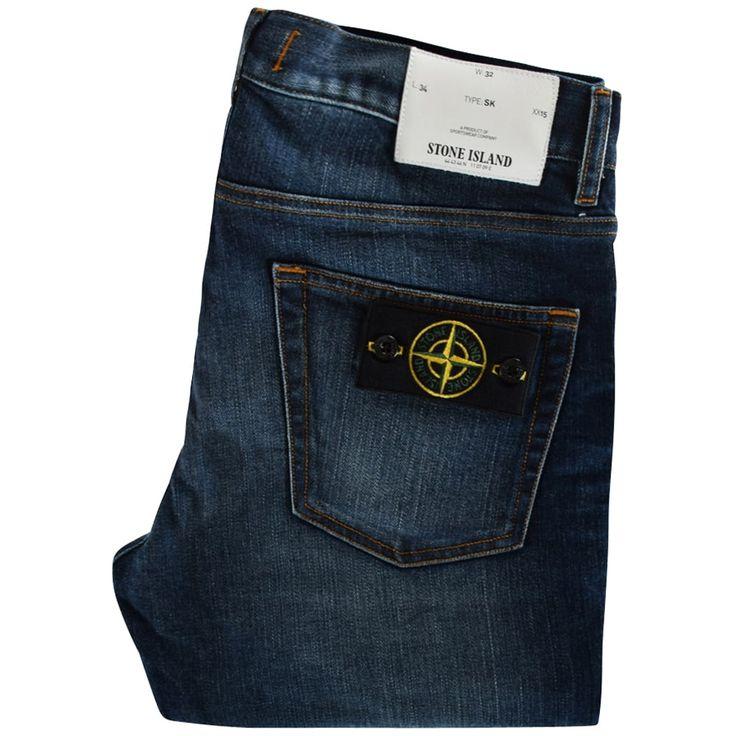 STONE ISLAND Real Dark-Wash Skinny Fit Jeans