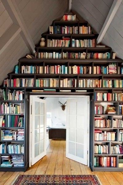 Bookshelf inspiration for all of our summer reading.