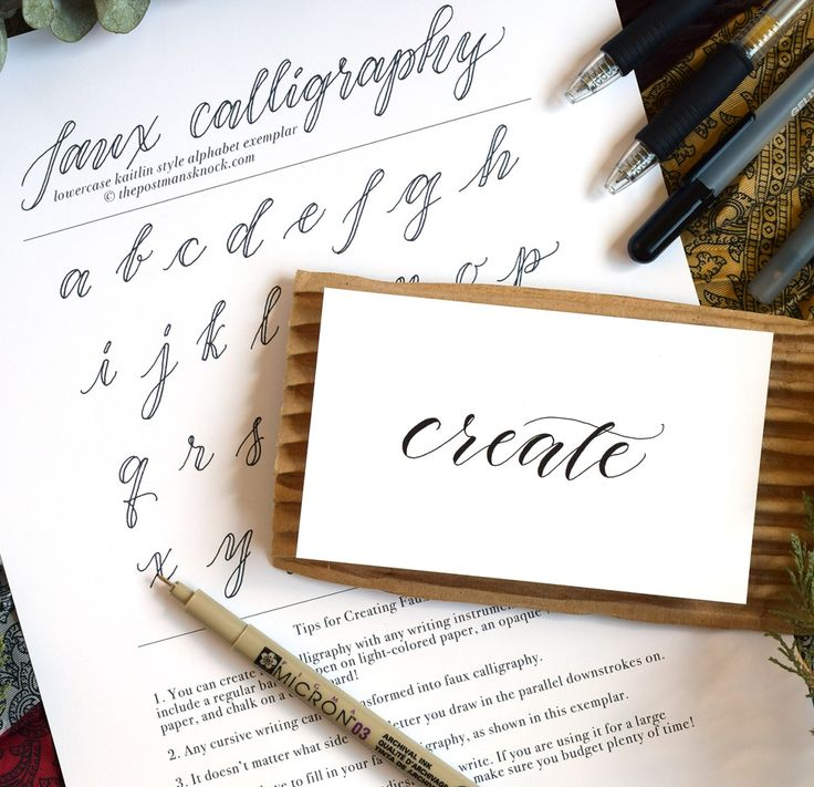 Faux Calligraphy Tutorial Calligraphy Calligraphy