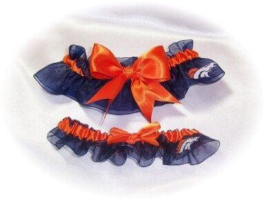 Handmade Wedding Garter Set Denver Broncos by GartersByKristi, $29.00, the things I'll do for this man...