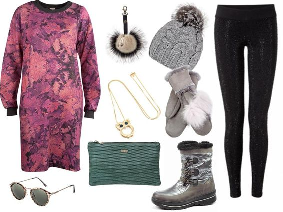 Outfit with Gena Rio hat and Megeve gloves.