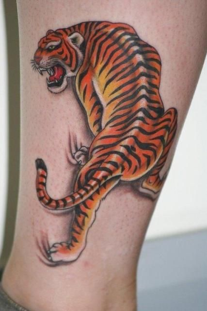 tiger tattoo designs and styles for men and women tiger tattoo on foot style of style cool. Black Bedroom Furniture Sets. Home Design Ideas