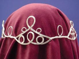 Loop & Twist Circlet: Renaissance Costumes, Medieval Clothing, Madrigal Costume: The Tudor Shoppe