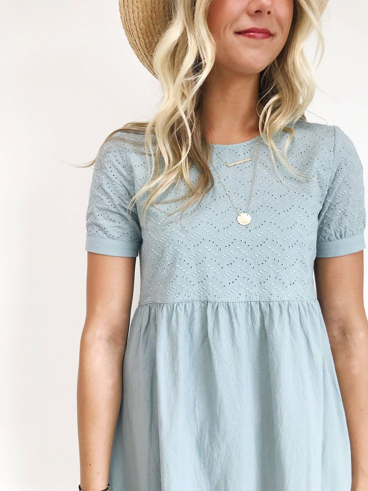 Blue Summer Linen Dress | ROOLEE