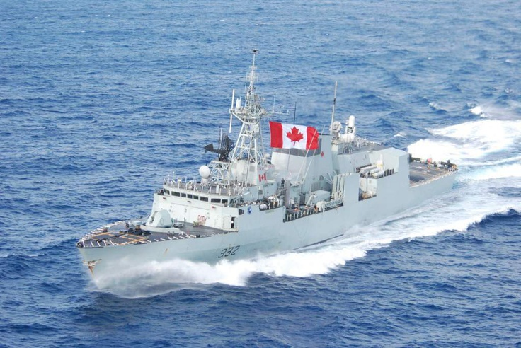 The frigate HMCS Ville De Quebec, Canada.