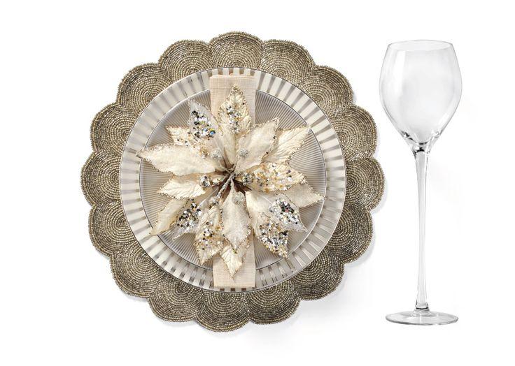 Luna Dinnerware & Sterling Beaded Placemat