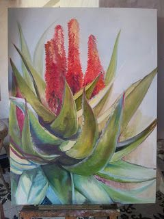 My first aloe painting for Jenny. Oil on canvas