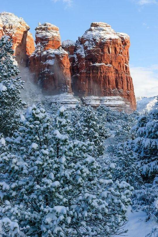 Winter, Coffee Pot Rock, Sedona, Arizona Places around