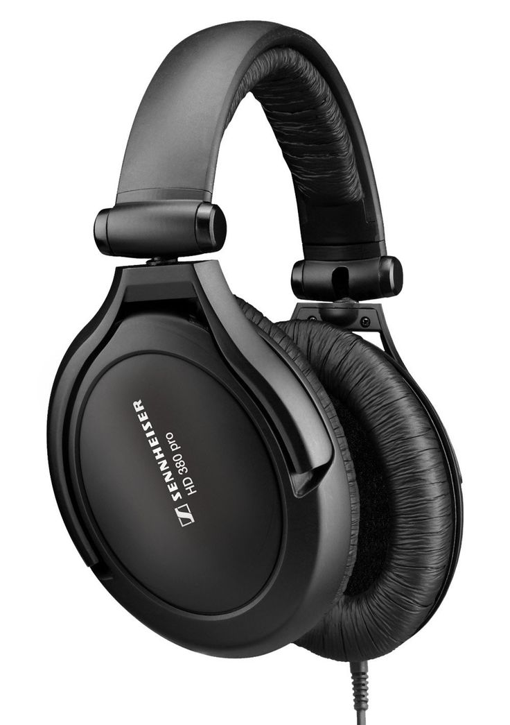Sennheiser HD 380 Pro Collapsible High-End Headphone for Professional Monitoring Use (Black)